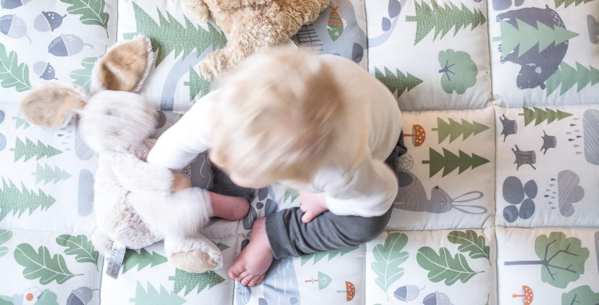 Babyfilt doppresent bebis pojke